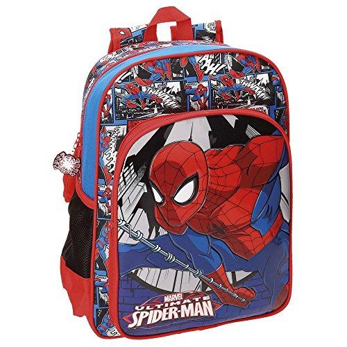 Imagen de spiderman comic  escolar, 38 cm, 13.22 litros, multicolor