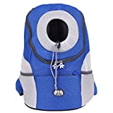 KINGDUO Elemento Portante Dell'Animale Domestico Zaino Borse Cane Traspirante All'Aperto Di Viaggio Borsa Cane Carrier Zaino Animale Domestico Cane Frontale Bag-Blu
