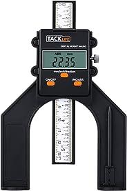 Tiefenmesser, Tacklife MDG01 Digitaler Profiltiefenmesser, Selbst Stehende Tiefenlehre mit Magnetischen Füßen, Perfekt für H