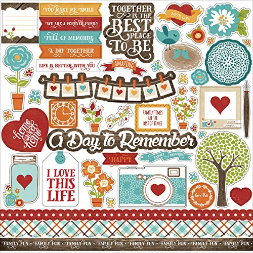 "Preisvergleich Produktbild I Love Family Cardstock Stickers 12""X12""-Element"