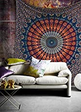 Bedsheet for Single Bed Textile Export Beautiful Exclusive Indian Mandala Bed Cover Twin Hippie Bohemian Throw Wall Hanging Indian Bedspread Tapestry