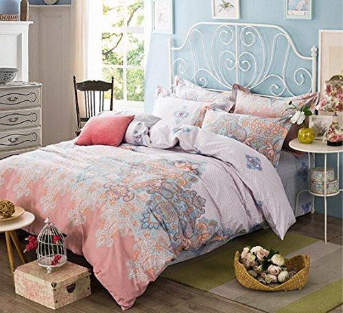 Doble estilo ropa cama Europa América cuatro conjuntos