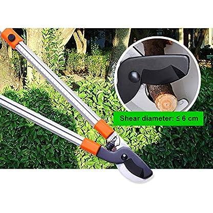 XPKZYSLJ-J Tijeras de Podar Telescopicas, Telescópicas para Jardín Ramas Setos Arbustos, Cabezal de Acero Inoxidable y Cuerpo de Hierro