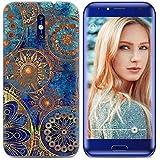 Yrlehoo Für Doogee BL5000, Premium Softe Silikon Schutzhülle für Doogee BL5000 Tasche Case Cover Hülle Etui Schutz Protect, Blaue Blumen
