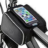 Yica Fahrradtasche Rahmentaschen, Fahrrad Rahmentasche Frarradschnalletasche mit Zwei Fäche, geeignet für iPhone 6s Plus/7/7plus/Samsung s7 Edge andere bis zu 5,5 Zoll Smartphone Fahrradtasche Lenker