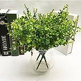 Youlala Künstliche grüne Gras Künstliche Pflanzen Haushalt Innen Außen Garten Büro Hochzeit Deko, plastik, Stil 3, 35 cm
