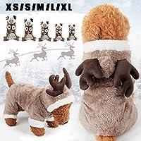 Bluelover Mascota Perro Gato Elk Trajes Invierno Ropa Cachorro Traje De Navidad Vestido De Fiesta Cosplay