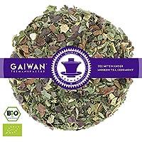 "No. 1129: Organic herbal tea loose leaf ""Daily Relax"" - 100 g (3.5 oz) - GAIWAN® GERMANY - cassia, fennel, anise, licorice, cocoa shell, parsley, orange, lemon balm, parsley, black pepper, peppermint, lemon verbena"