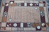 Karatcarpet Moderner Teppich Kurzflor Kollektion Gold 091/12 Hell Braun, Beige, Creme, Meliert, Muster: Geometrisch. (300x400 cm)