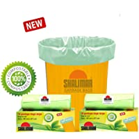 Shalimar Premium Compostable/Biodegradable Garbage Bags (Large) Size 60 cm x 81 cm (10 Bags) (Trash Bag/Dustbin Bag) (Green Color)