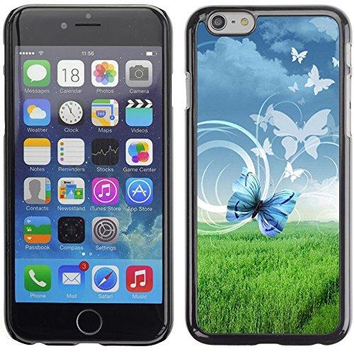 Graphic4You Bunt Schmetterling Schmetterlinge Muster Design Harte Hülle Case Tasche Schutzhülle für Apple iPhone 6 Plus / 6S Plus Design #4
