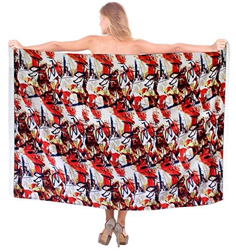 delle donne costume da bagno Abito a portafoglio costumi da bagno sarong coprire fino beachwear signore vestito di pannello esterno da bagno Rosso