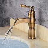 MulFaucet wasserhahn armatur hahn Wasserleitung Faucet Waschbecken Bad unter der Ladentheke heiß und kalt europäischer Stil einzelnes Loch einzelner Griff