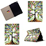 iPad Pro 10.5 Case 2017,Lspcase Premium Leather Business Slim Folding Stand Folio Cover for new Apple iPad Pro 10.5 with Auto Wake / Sleep and Document Card Slots, Multiple Viewing Angles, Tree of Life