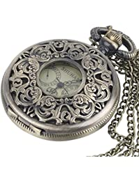 Brass Vintage Mechanical Pocket Watch Chain Necklace