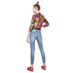Desigual Pantal n Vaquero Azul de Cintura Larga y Alta para Mujer Color Azul Turquesa 30