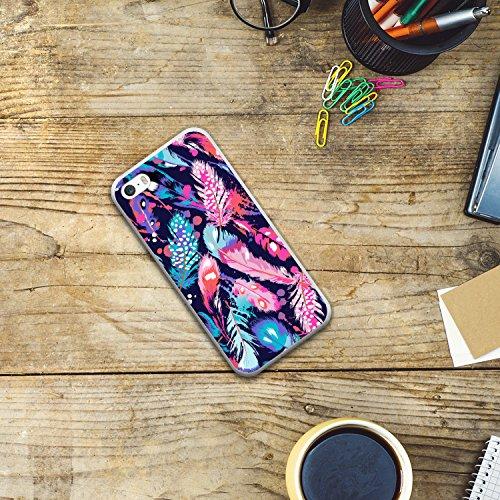 iPhone SE iPhone 5 5S Hülle, WoowCase® [Hybrid] Handyhülle PC + Silikon für [ iPhone SE iPhone 5 5S ] Husky-Hunde Sammlung Tier Designs Handytasche Handy Cover Case Schutzhülle - Transparent Housse Gel iPhone SE iPhone 5 5S Transparent D0553