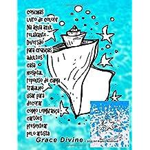 conchas livro de colorir Na água azul relaxante Diversão para crianças adultos casa hospital repouso de cama trabalho usar para decorar como lembrança cartões presentear pelo artista Grace Divine