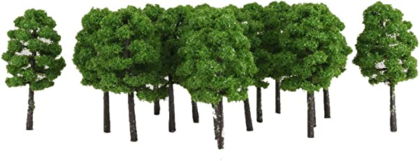 Imported 20pcs Green Model Trees 1:150 7cm