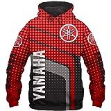 Otoño/Invierno Jersey De Cuello Alto para Hombre Impreso En 3D Y.amah.a Equipo Suéter con Capucha A Rayas De Color Rojo Y Neg