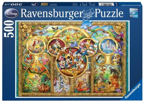 Ravensburger 14183 - Puzle (500 piezas), diseño de personajes de Disney