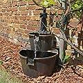 Holz Design Springbrunnen DSB1 für Balkon Terrasse Garten Gartenspringbrunnen von CLGarden auf Du und dein Garten