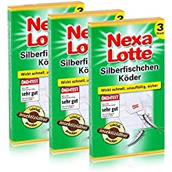 3x 3(9unidades.) Nexa Lotte–Cebo para pececillos de plata (cola de Trampa efectivo