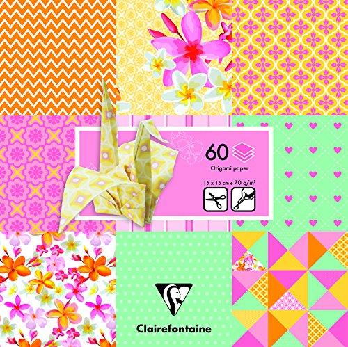 Clairefontaine 60Blatt Shabby Origami Pack, Mehrfarbig, 15x 15cm
