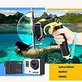TELESIN [versione aggiornata] Custodia porta dome da 6 pollici Dive Photography per GoPro, porta dome Floaty Monopod impermeabile per gli accessori della fotocamera Gopro Hero 3/3 + Hero 4. immagine
