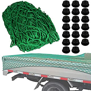 Anhängernetz 2 x 3 Meter mit 20 Rundknöpfen - Ladungssicherungsnetz - Abdecknetz für Anhänger