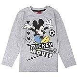 Disney Jungen Mickey Mouse Shirt, Hellgrau Meliert, Größe 104, 4 Jahre