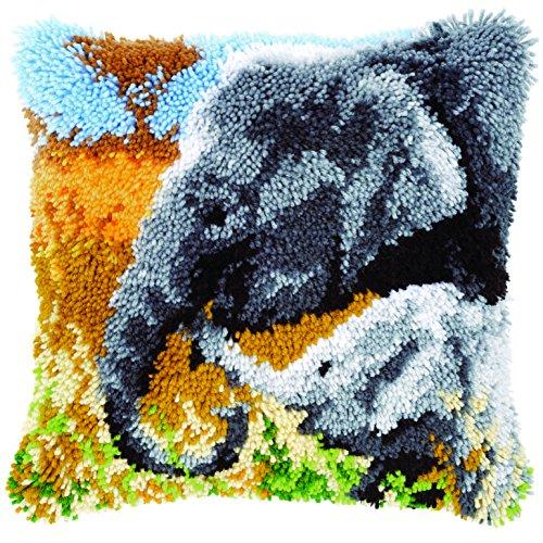 Vervaco PN-0147955 VER - Cojín de nudos diseño de elefantes