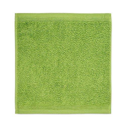 möve Superwuschel Seiftuch 30 x 30 cm aus 100% Baumwolle, peridot
