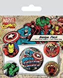 Marvel Comics Spilla Pin Badges 5 Pack Captain America Pyramid International - Pyramid International - amazon.it
