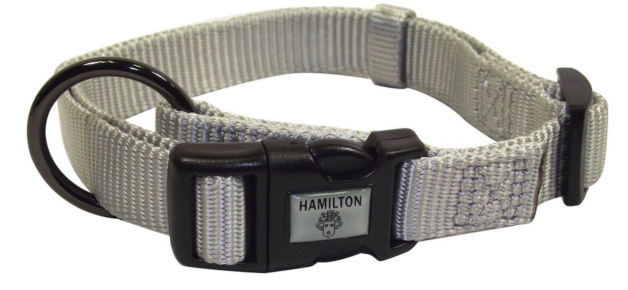 Hamilton Gun Metal Series Adjustable Dog Collar, 5/8-Inch, Jade