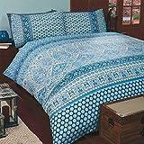 Ornamental & Marokkanisch Inspiriert Bettwäsche Set mit Kissenbezug Eltern Eltern - Blau, Einzel