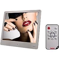 Hama Digitaler Bilderrahmen Slim Steel (20,32 cm (8,0 Zoll), SD/SDHC/MMC-Kartenslot, USB 2.0, mit Fernbedienung) silber
