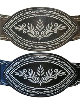 100-125cm Ranzen schwarz u. braun Trachtenranzen Federkiel-Optik Trachten-Gürtel