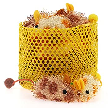 Chiwava 5,6cm Souris en peluche jouet pour chat souris Fourrure Léopard Petit Chaton Jeu interactif couleurs assorties
