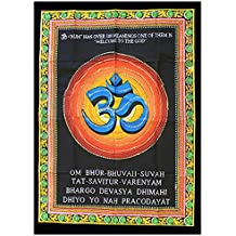 Indian Wall hanging OM Sign | Om Sign poster | Yoga mantra wall Hanging by Hippy Shack