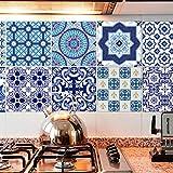 KESOTO 20pcs Selbstklebende Fliesenbilder Fliesensticker Dekosticker Fliesenfolie Set für Bad Küche - # 4 20x20cm