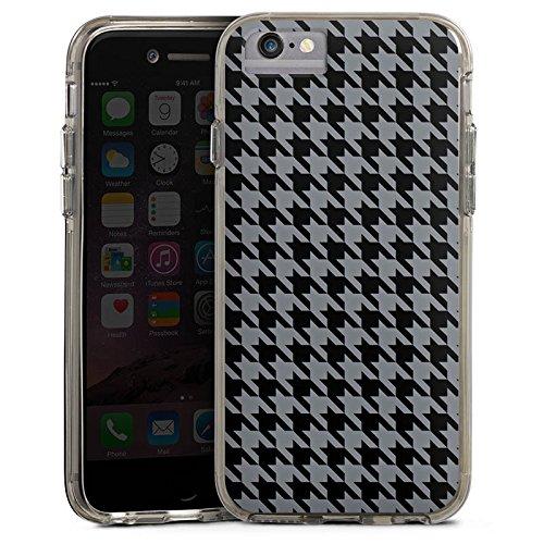 Apple iPhone 6s Bumper Hülle Bumper Case Glitzer Hülle Muster Pattern Schwarz Grau Bumper Case transparent grau