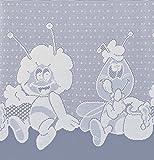 heimtexland KINDERGARDINE Scheibengardine BIENE MAJA HxB 105x160 cm in weiß Gardine Ökotex Kurzgardine Store Kinderzimmer Typ321