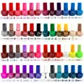 48 x NAIL POLISH VARNISH 10 ML 48 DIFFERENT COLOURS BRIGHT WHOLESALE JOB LOT UK