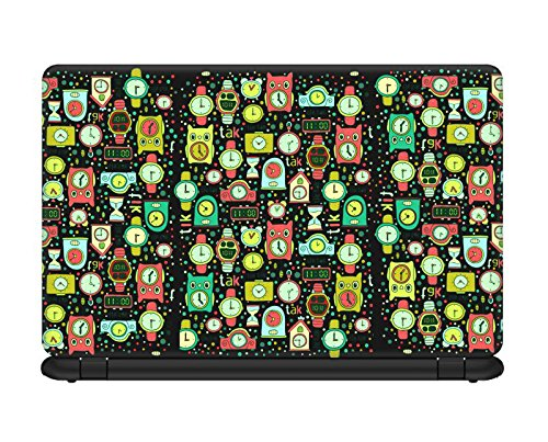 Design Lab Wall Clock Anime Pattern Laptop skin for 14.1 inches Laptop, Compatible for Dell-Lenovo-Acer-HP-Vaio-Samsung Laptops [HD Print - Matte Lamination]  available at amazon for Rs.193
