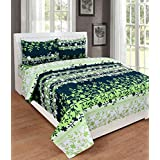 Cotton Double Bedsheet Flower Print With 2 Xl Pillow Covers - Size 90 X 100 Inch And Pillow Cases Size 19X29 (XL) By Decoholic