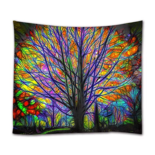A.Monamour Tapices Pintura Brillante Imagen Colorido Árbol Forestal c
