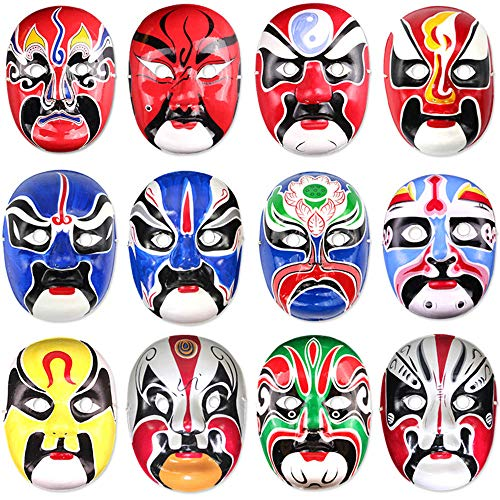 EP-Toy Adult Party Mask (3PCS Chinese Peking Opera Mask) Halloween Party Kostüm Requisiten