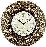 Swagger Decorative brass wall clock / Fl...