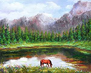 Vitalwalls Landscape Painting (Scenery-518-45, Canvas Print, 45 cm x 36.7 cm)